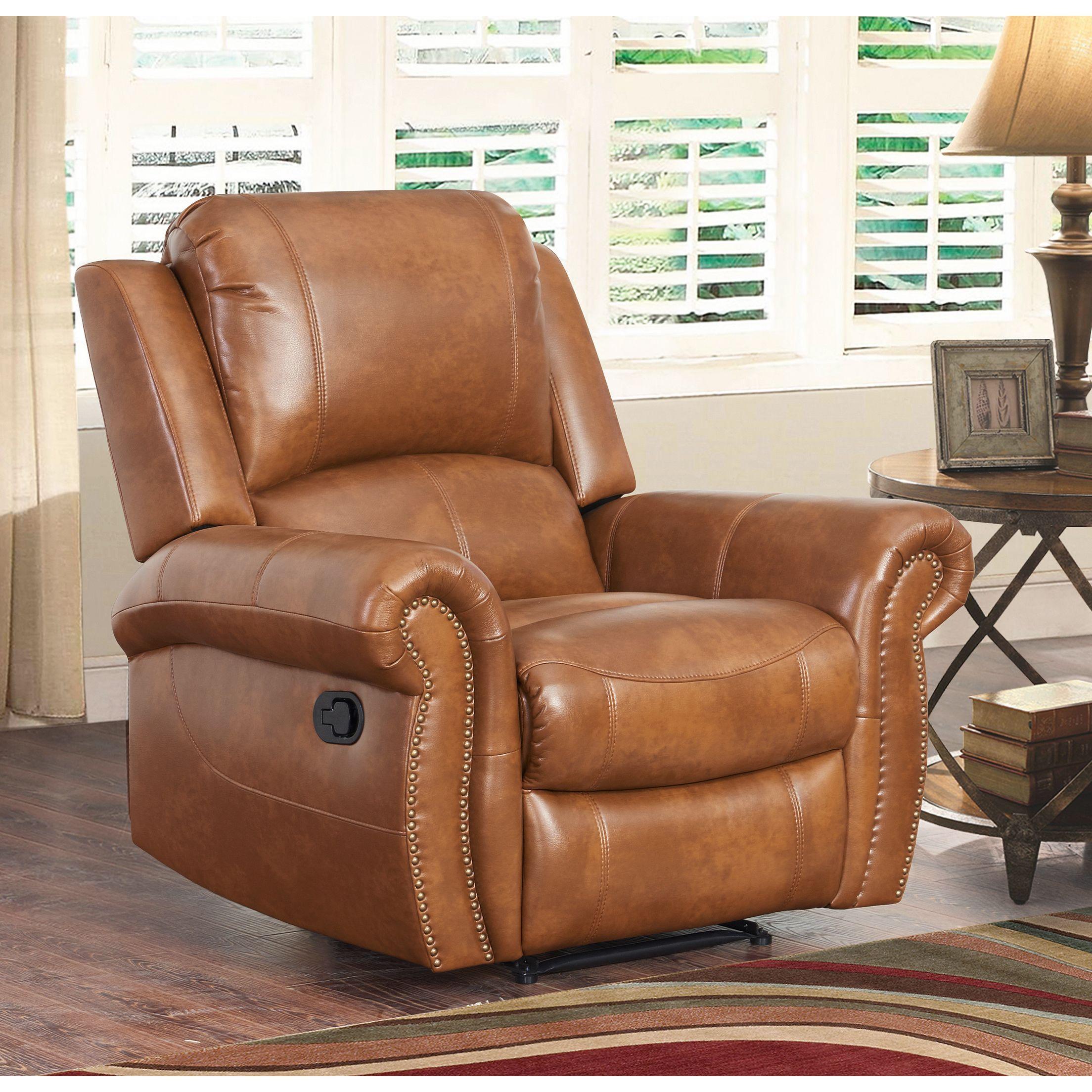 White Leather Reclining Sofa