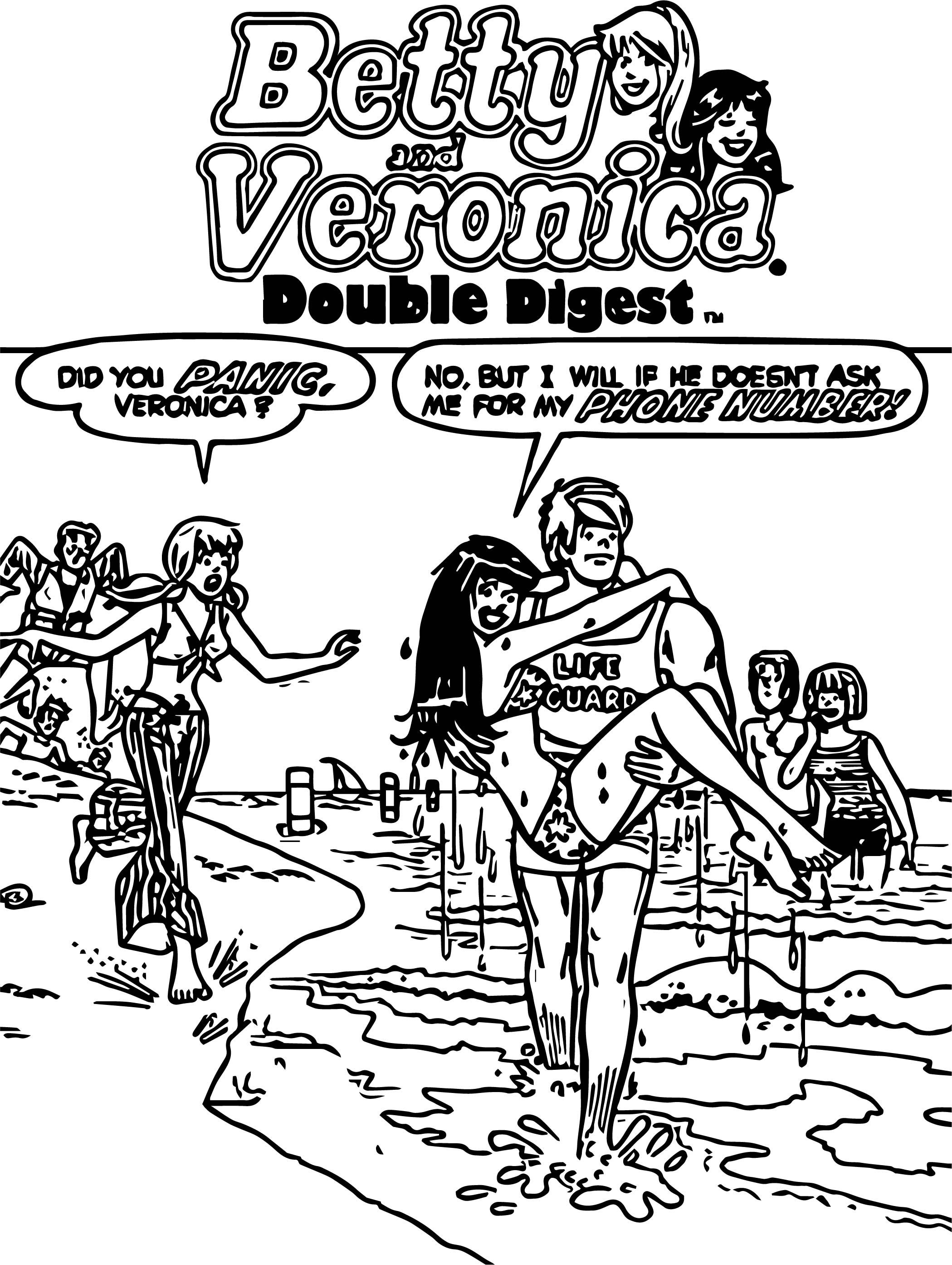 Cool Betty Veronica Coloring Page Betty And Veronica Coloring Pages Printable Coloring Book