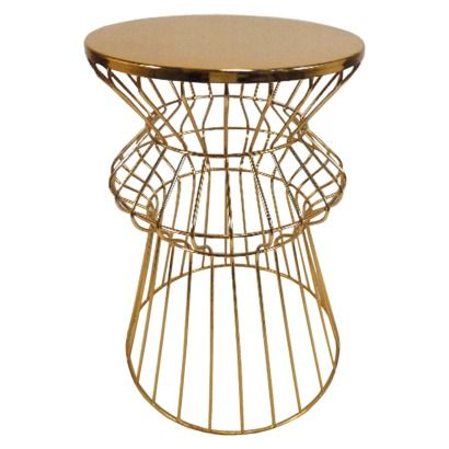 Target Gold Side Martini Tables They Re Back In Stock Wire Table Gold Side Table Side Table