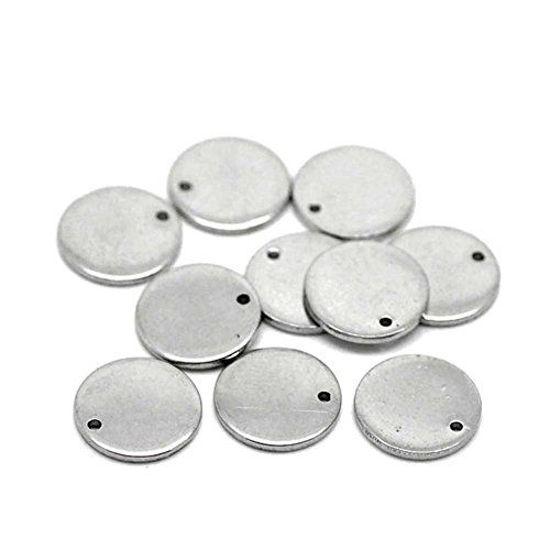 Beadthoven 100pcs 304 Stainless Steel Blank Stamping Tag Https Www Amazon Com Dp B01j50xh96 Ref Cm S Metal Stamping Metal Stamping Blanks Stamping Blanks