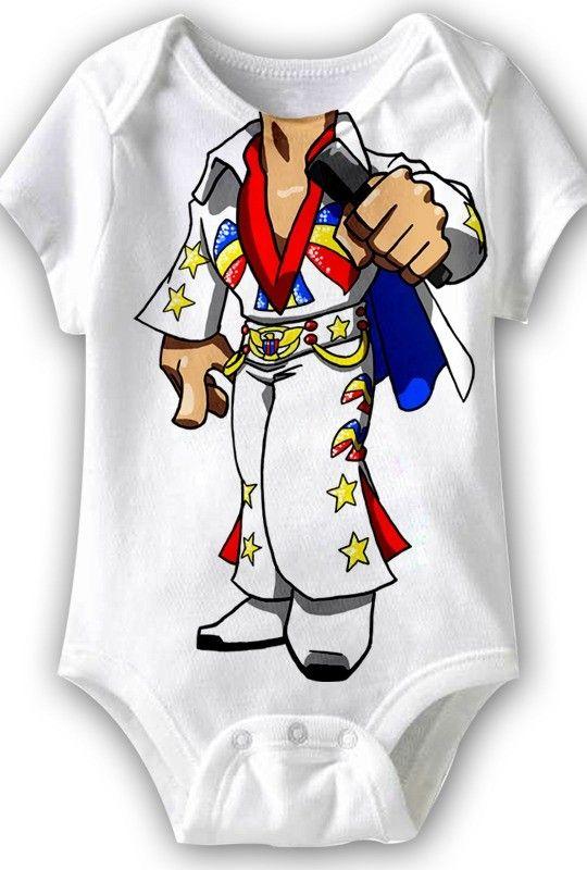 2ed1717e0 Elvis Romper | Baby Rompers, Baby Tees, Baby Gifts | Onesies, Baby ...