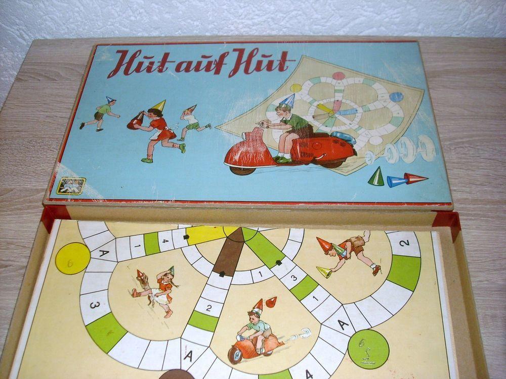 Hut auf Hut Würfelspiel von 1957 aus Karl Marx Stadt