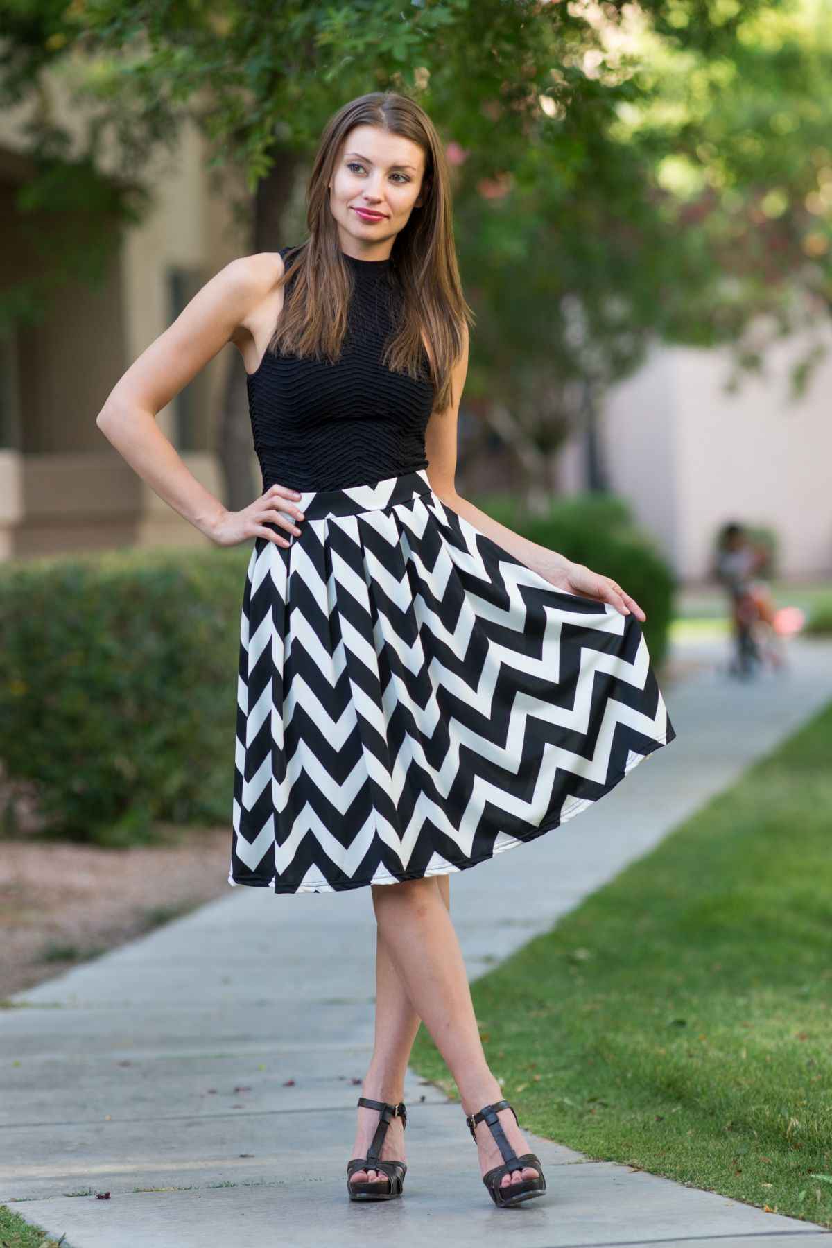71375bf86 Chevron Skirt   Crop Top! - Only  14.99!