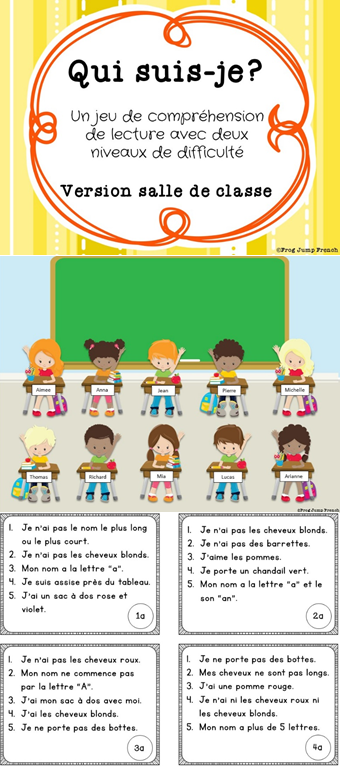 Qui Suis Je Comprehension De Lecture Ecole French Reading Game French School Teaching French French Education