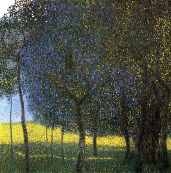 Three Tree Paintings By Klimt Art Klimt Peinture Paysage Klimt Peinture