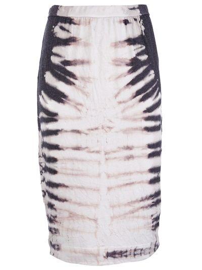 RAQUEL ALLEGRA Tie and Dye Pencil Skirt