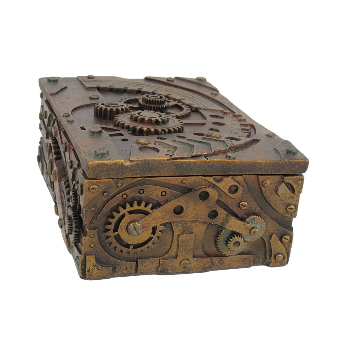 Ring In The Steampunk Decor To Pimp Up Your Home: Steampunk Trinket / Jewelry Box Steam Punk Stash