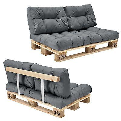 encasa euro palets sof gris 2 plazas con palets cojn tapizado respaldo - Europalets