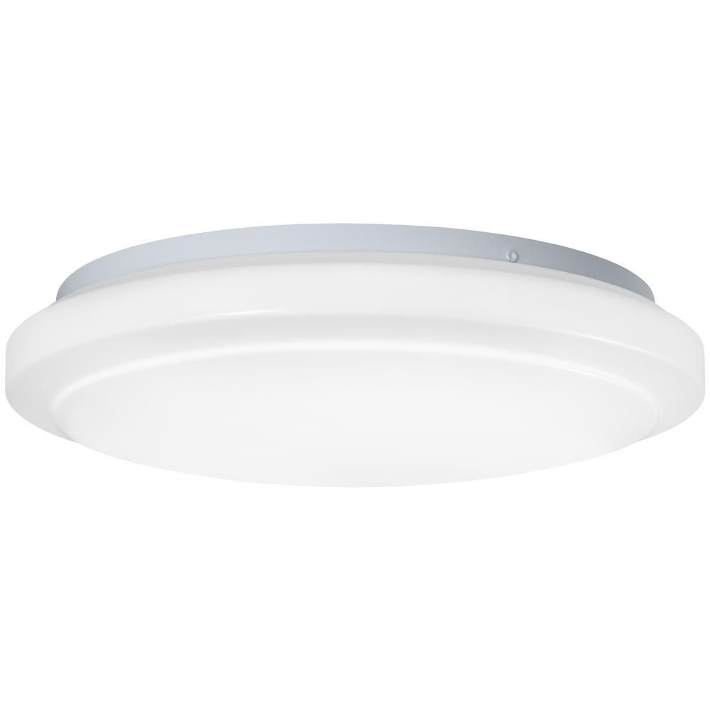 Hampton Bay Low Profile Puff Style 16 In Round White 100 Watt Equivalent Integrated Led Flushmount Dim Led Flush Mount Flush Mount Ceiling Lights Hampton Bay