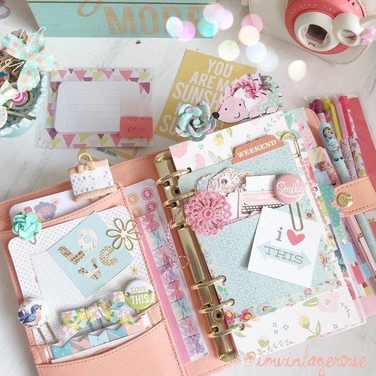 Planning Pretty: Planner, Shabby Chic, Pretty, Paper Clips, Filofax, Kikki