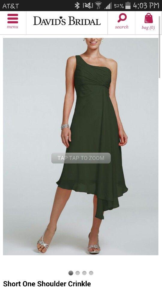 Tarragon Color Bridesmaid Dress For Fall Wedding