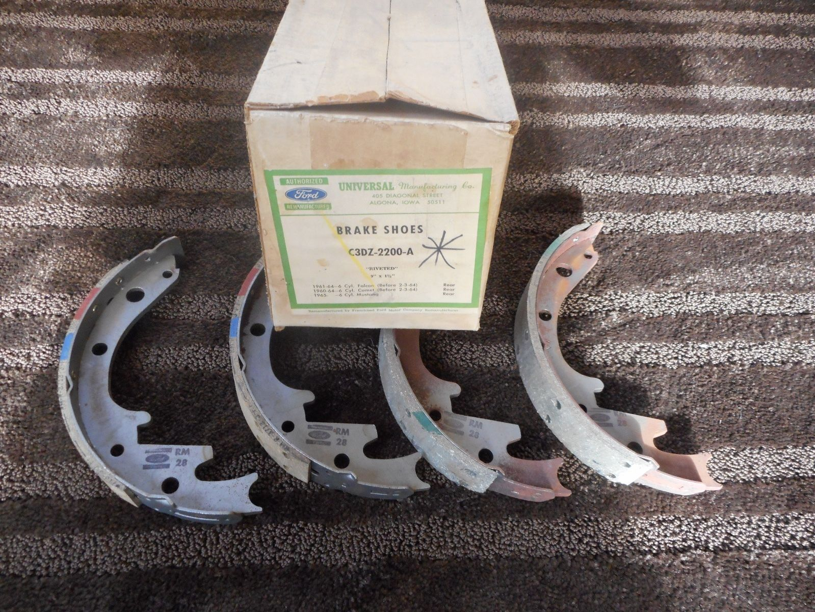 Ford Remanufactured 1960 64 Ford Falcon Comet Rear Brake Shoes 65 Mustang | eBay