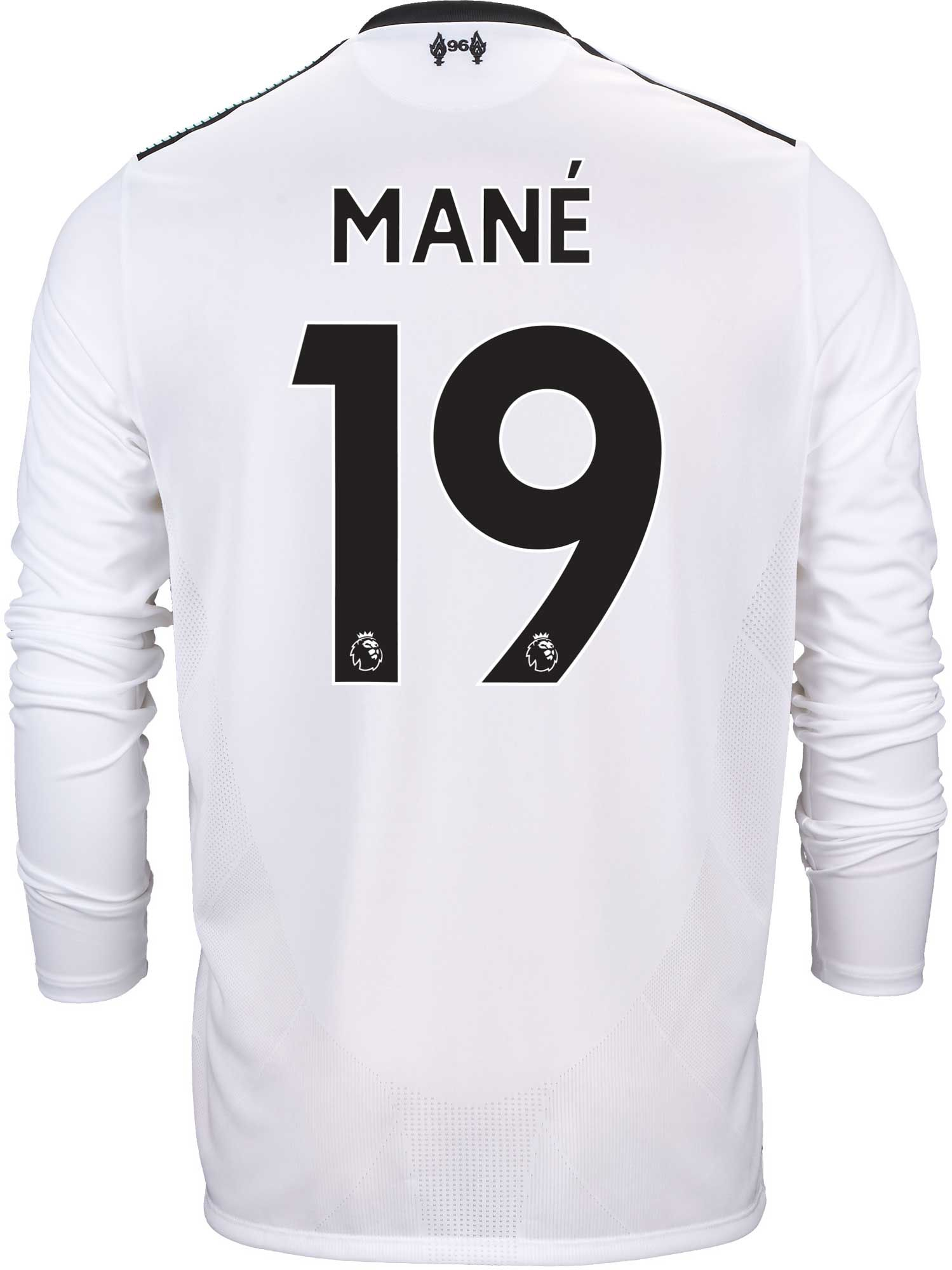 87150818f7d New Balance Sadio Mane Liverpool L S Away Jersey 2017-18 - SoccerPro