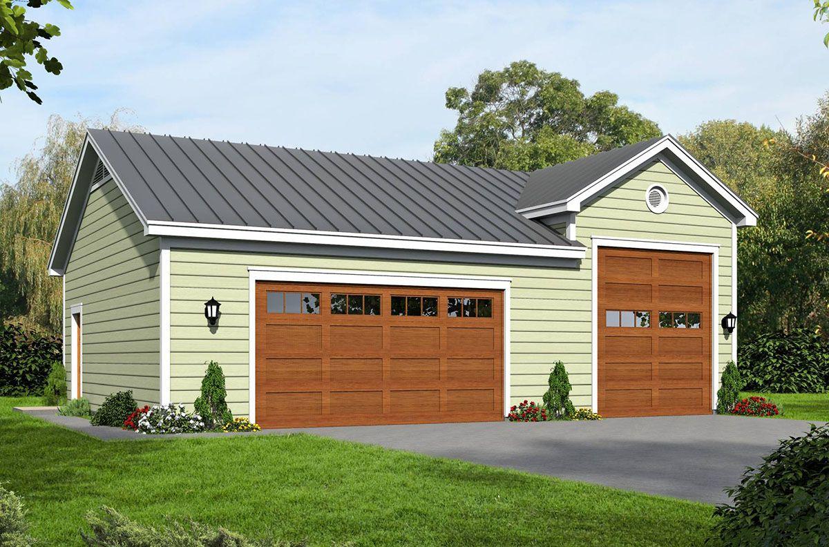 Plan 68449vr Garage With Rv Bay In 2021 Garage Door Design Rv Garage Plans Garage Plan