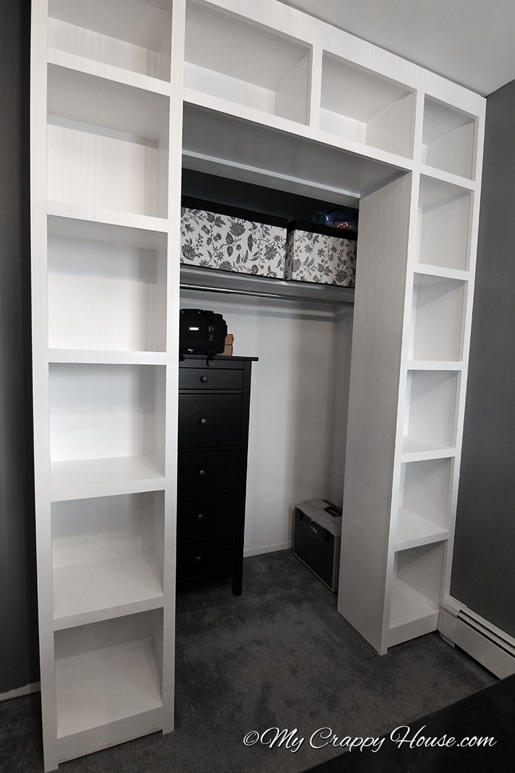 These Shelves Would Be Cool Around A Closet Door To Extend