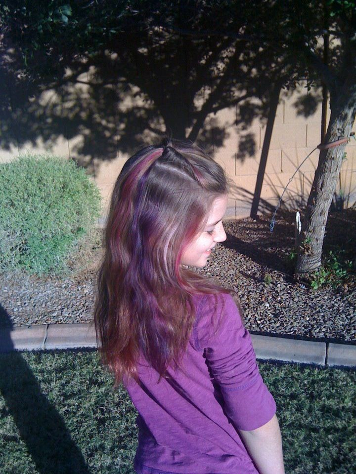 Purple and pink streaks