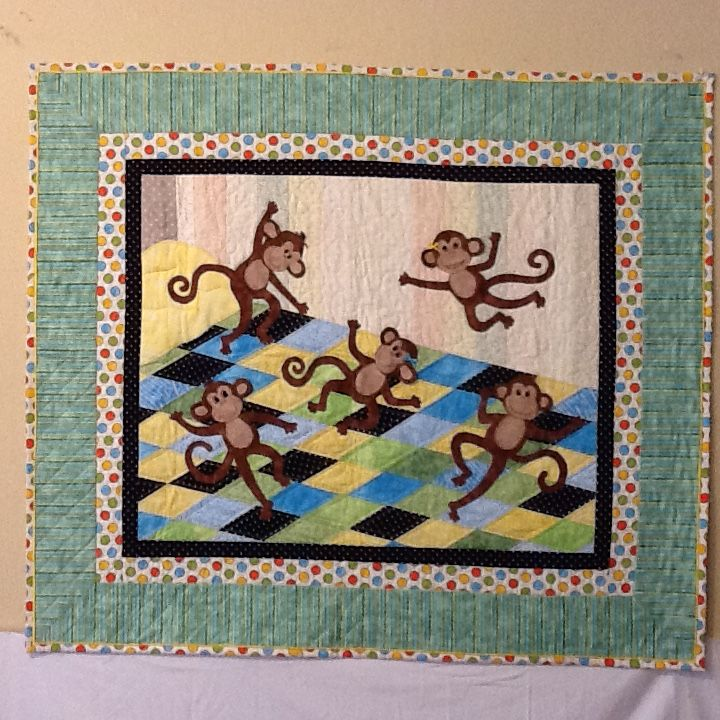 I made this quilt, Five Little Monkeys Jumping on the Bed
