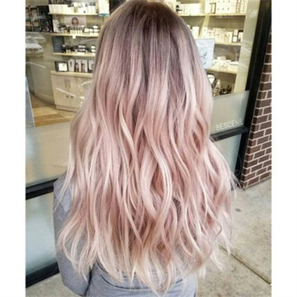 Baby Blonde Blush Cool Hair Color Hair Color Pastel Pink Hair Highlights