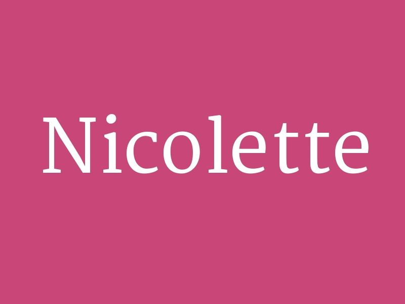 "Nicolette - from the collection ""Huge List of Baby Girl's ..."