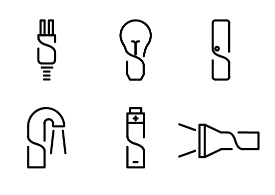 Pictograms for hardware warehouse wayfinding system on