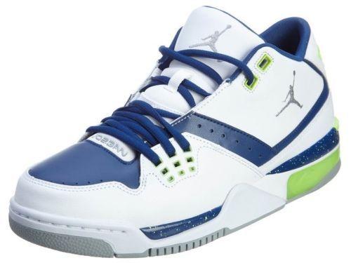 77201fe0f74 Nike Air Jordan Flight 23 Mens White/Blue/Gray Green Basketball Shoes Size 9