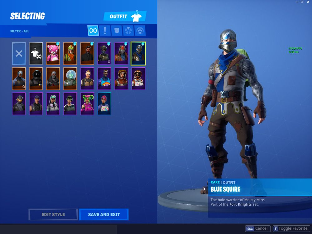 Fortnite Blue Squire Account 20 Skins Inactive Rare Og Dances