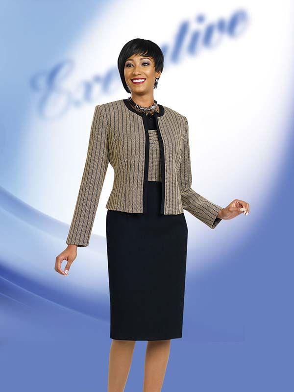 Ben Marc Executive 11455 Ladies Jewel Collar Dress & Jacket Set ...