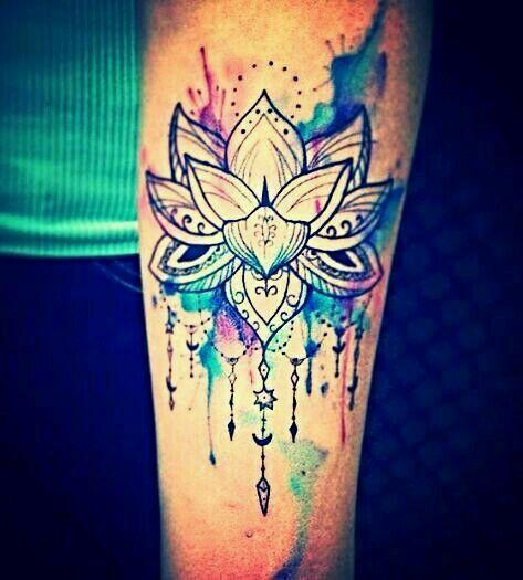 Lotus Flower Tattoo Watercolour Diseno De Tatuaje De Loto Tatuajes De Acuarela Brazos Tatuados