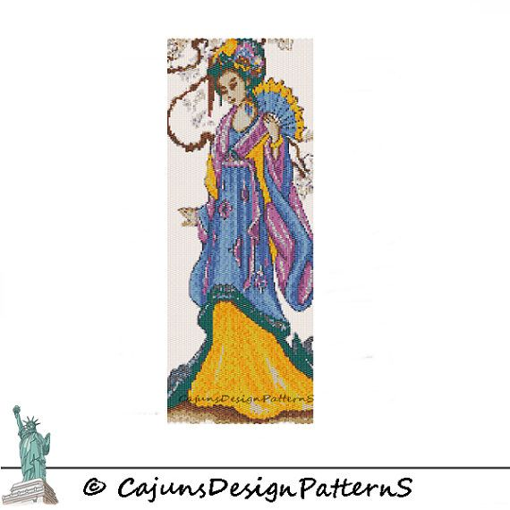 On SaLe GEISHAPeyote 2 DropTapestryWall by CajunsDesignPatternS, $7.95