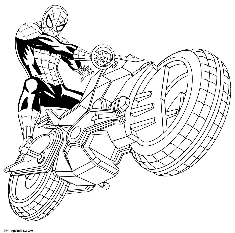Cool 14 Coloriage Moto Spiderman Coloriage Spiderman Coloriage Moto Image Coloriage