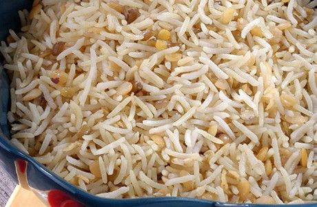 A delightful blend or rices and pulses (vegan)