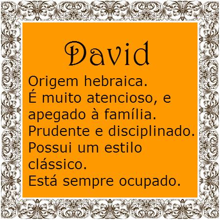 Significado Do Nome David Significados Dos Nomes