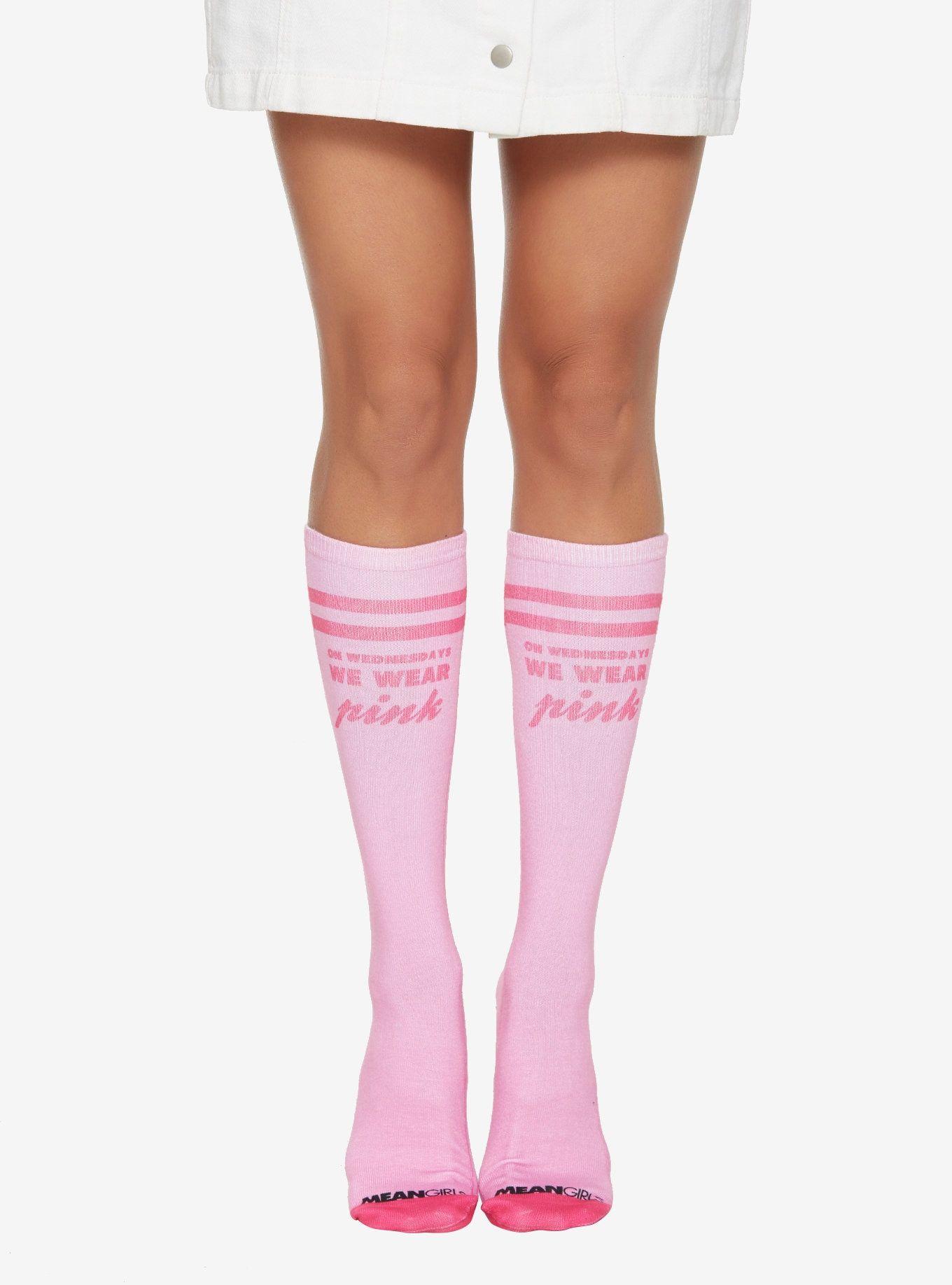 7121fb99d Mean Girls Pink Knee High Socks