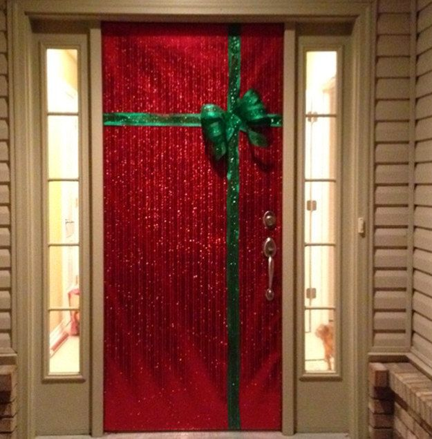 17 ideas de bajo presupuesto para decorar tu casa en navidad art craft diy Como decorar una puerta