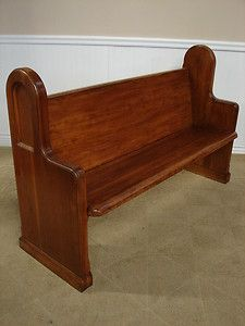 Wondrous Vintage Oak Church Pew 5 Ft Wooden Bench For The Home Onthecornerstone Fun Painted Chair Ideas Images Onthecornerstoneorg