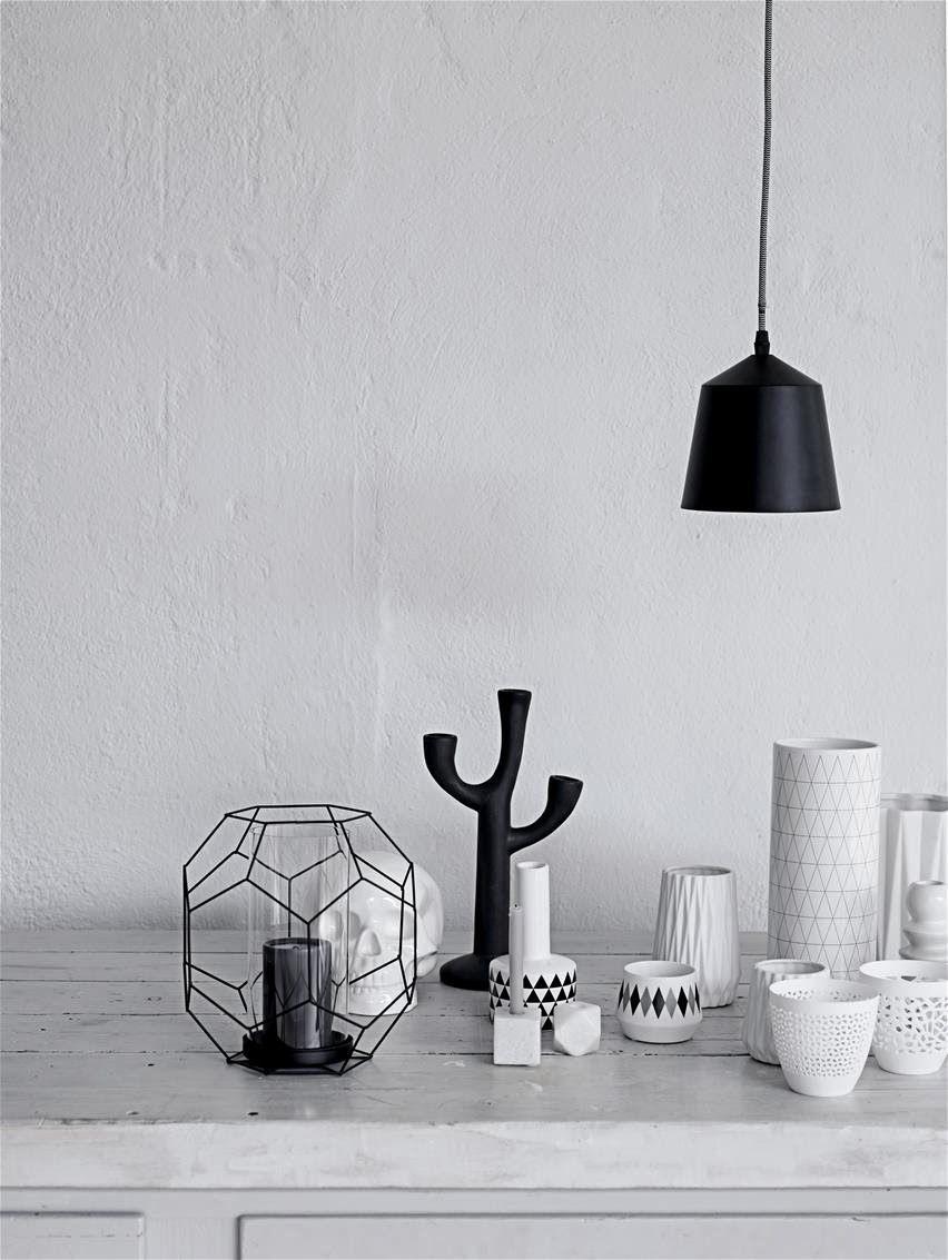 Bloomingville aw 2014 décoration noir et blanc objet deco maison graphique jolie