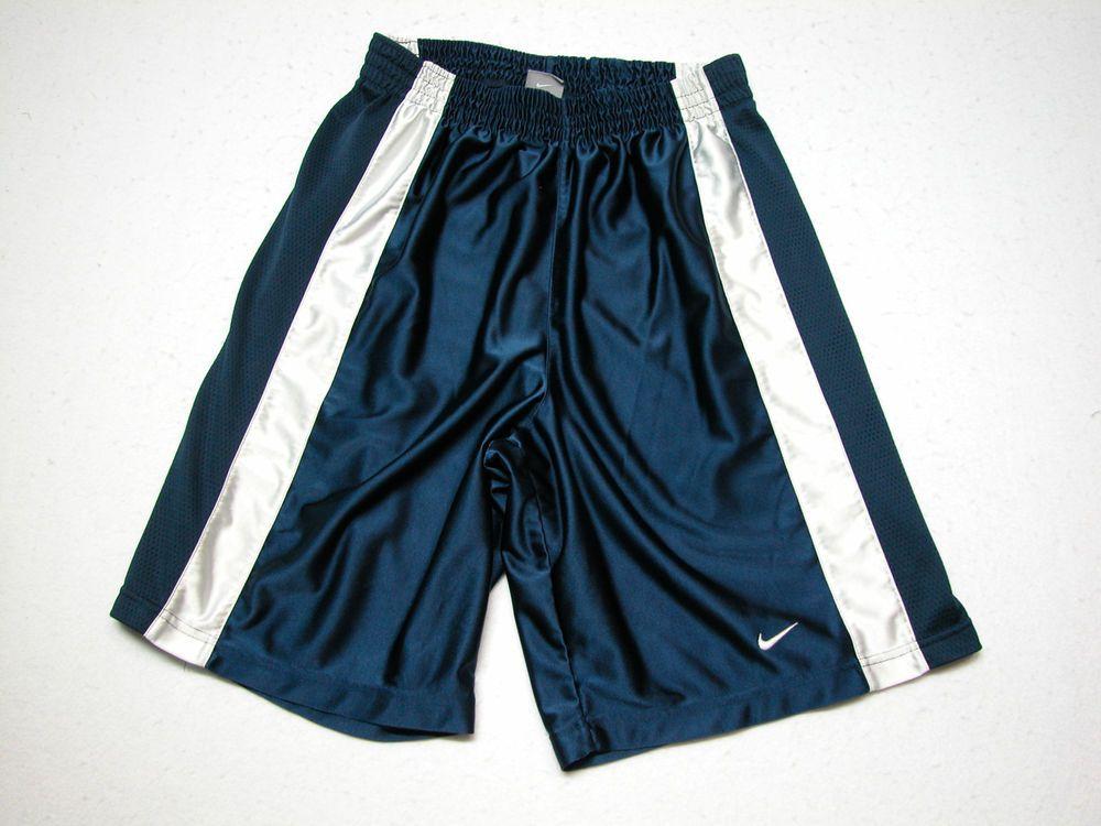 Men's Nike Basketball Shorts Navy Blue & white Size Large 100% Polyester # Nike #