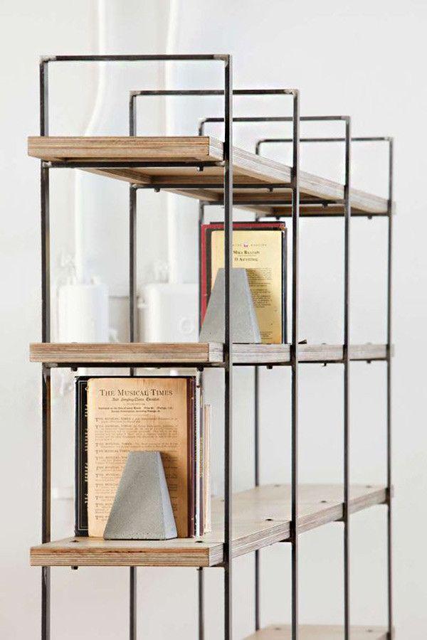 17 ideas de c mo poner estantes de metal en casa shelves - Estanterias de hierro ...