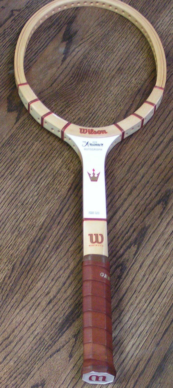 Vintage tennis gear completely covered