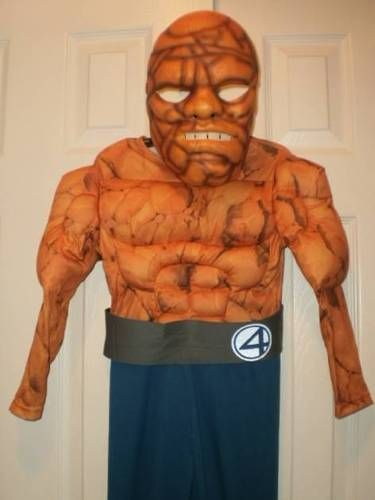 "BOYS 4-6 FANTASTIC FOUR ""THE THING"" MARVEL comics HALLOWEEN COSTUME with MASK"