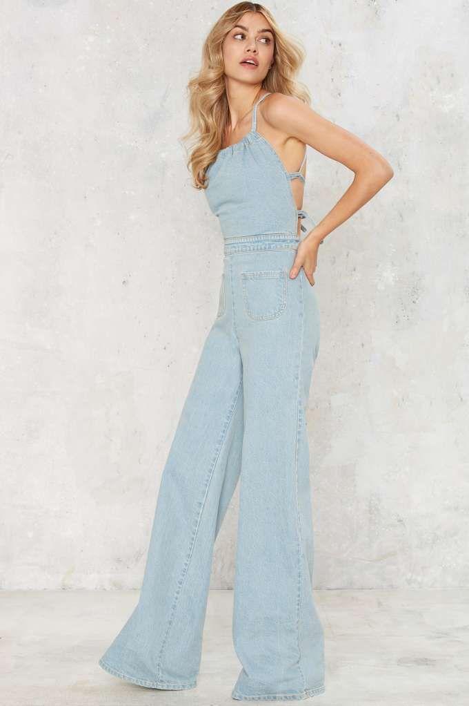 b0ec5dc8122e Stoned Immaculate Jean Genie Denim Jumpsuit - Clothes