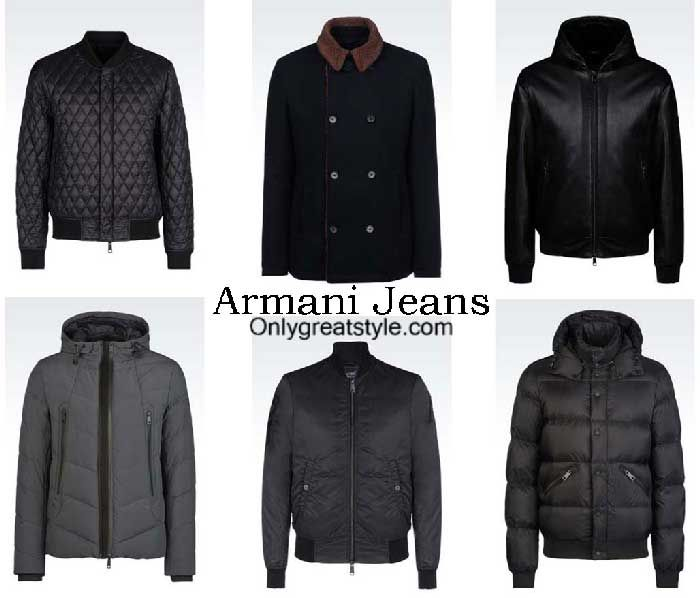 wholesale sales sports shoes price reduced Armani Jeans jackets fall winter 2016 2017 for men | Jackets ...