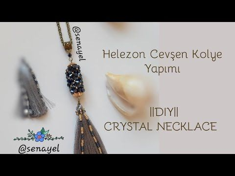 Photo of CEVŞEN KOLYE YAPIMI || HELEZON MODEL || #DIY || CRYSTAL NECKLACE ||