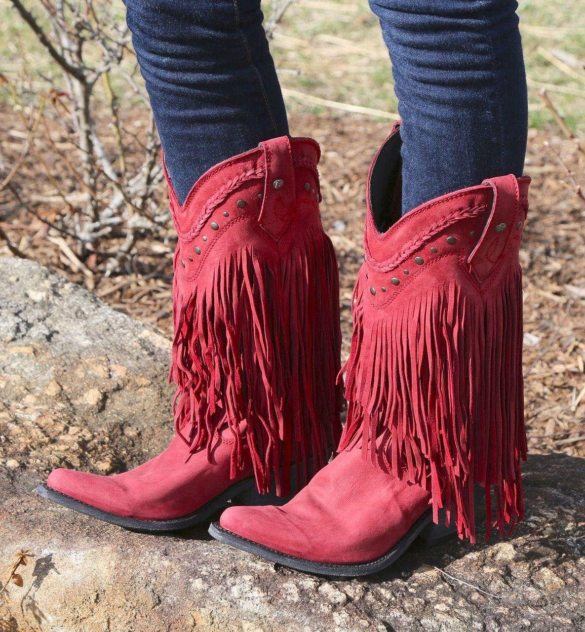 Rivertrail Mercantile - Liberty Black Vegas Fringe Boots Rojo LB71124, $360.00 (http://www.rivertrailmercantile.com/liberty-black-vegas-fringe-boots-rojo-lb71124/)