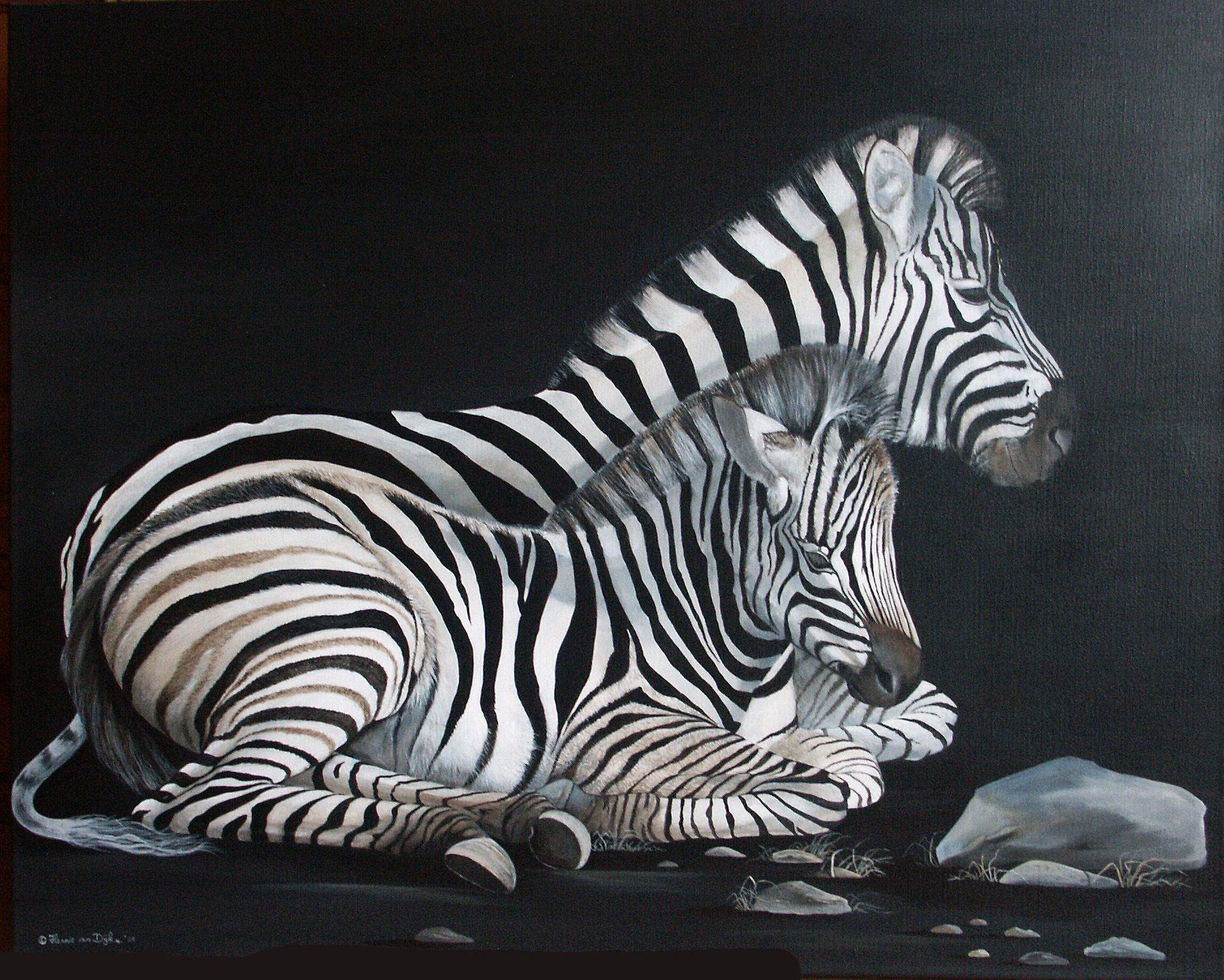 Zebra met veulen acryl op linnen wild life pinterest wild zebra met veulen acryl op linnen thecheapjerseys Gallery