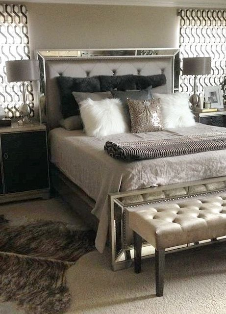 Facebook Fan Sandie B Shared Her Bedroom Update Styled With Our Ava Bed Lola Bench Glam