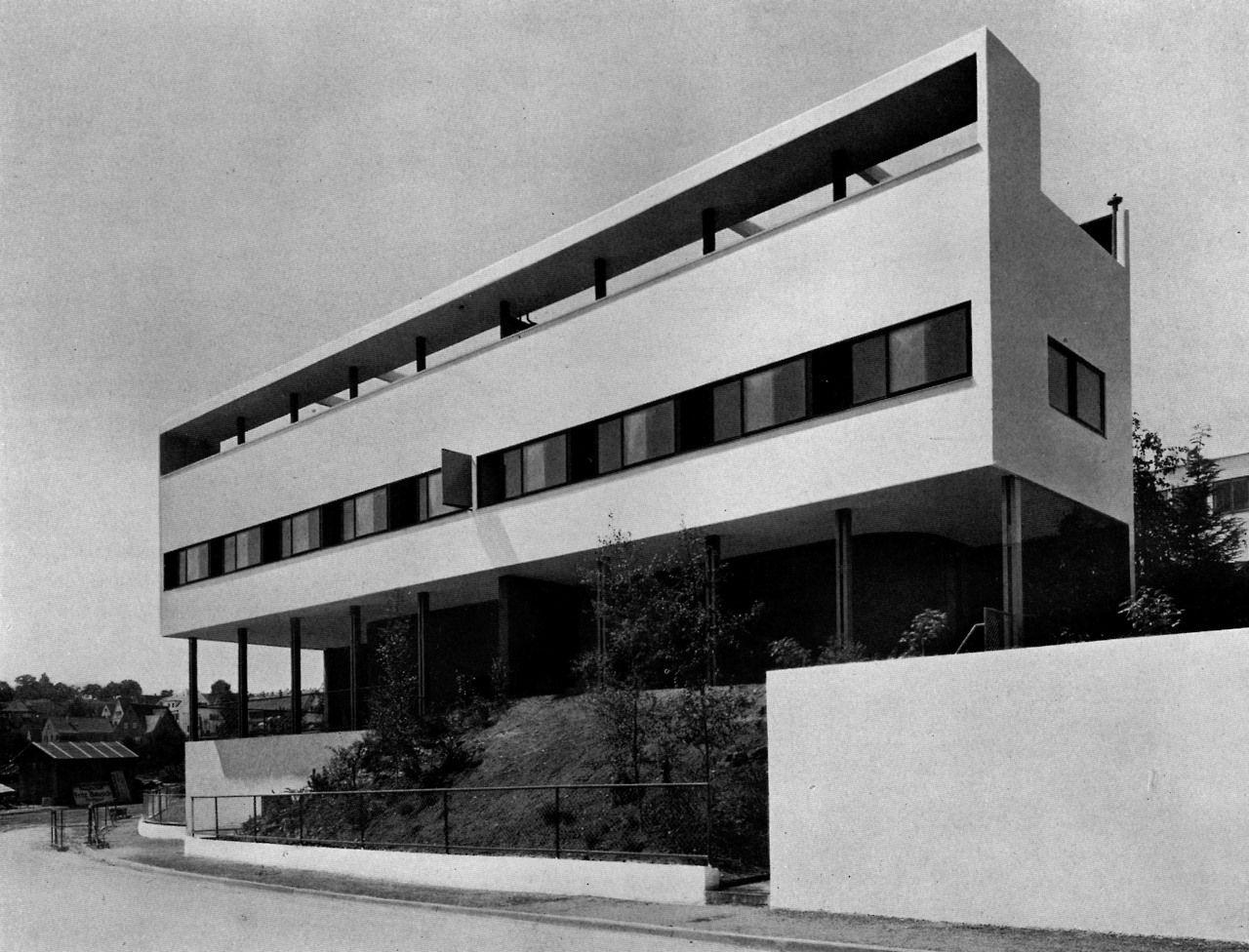 Le corbusier pierre jeanneretdouble house for Villas weissenhofsiedlung