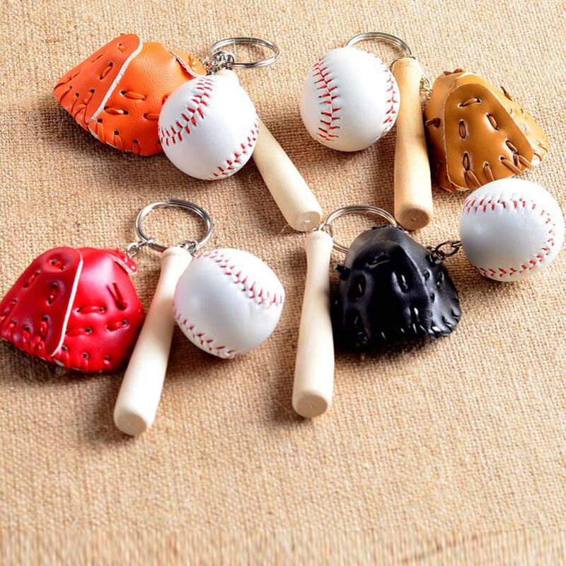 Softball MINI Charm Set 5 Pcs Charm Set Lot Collection //Bat,Glove,Sports