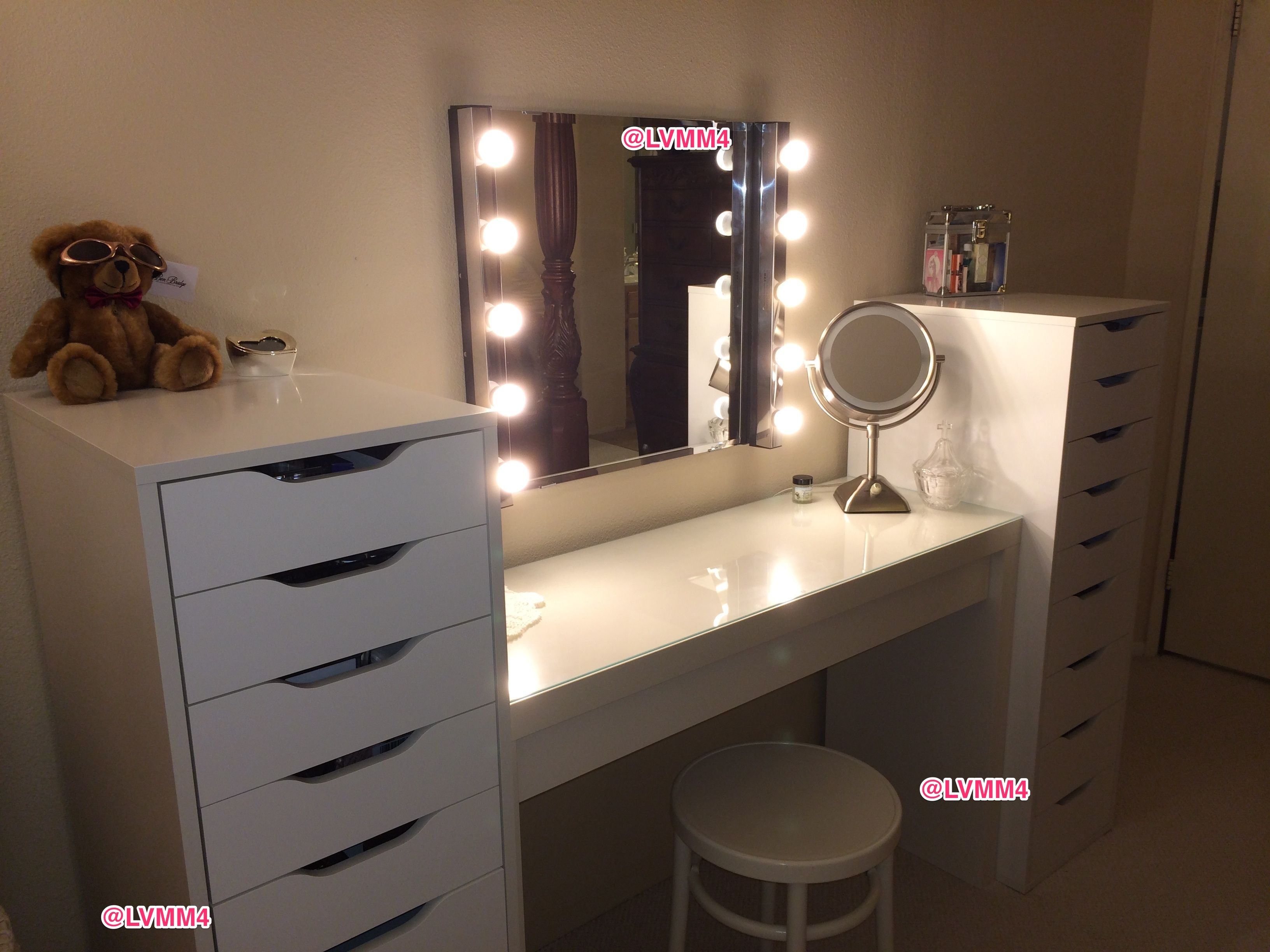 Malm dressing table alex drawer units each kolja