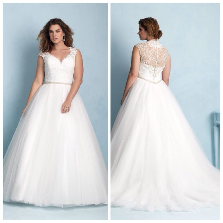 Allure w350 - Tulle skirt with lace top and swavorski crystals ...